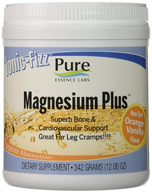 Pure Essence Labs Ionic Fizz Magnesium Plus - Superb Bone & Cardiovascular Support By Pure Essence Labs - Orange Vanilla - 342 Grams