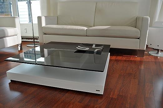 DESIGN COUCHTISCH V-570 weiß getöntes Glas Carl Svensson Tisch