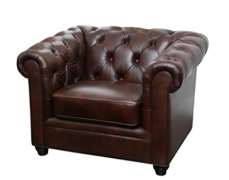 Abbyson Living Foyer Premium Italian Leather Armchair