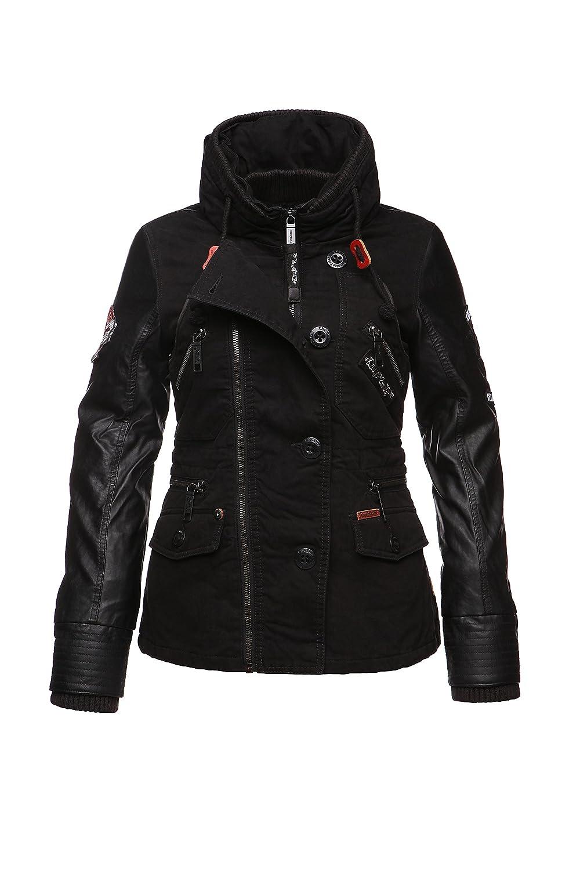 Khujo India Fake Mix with inner Jacket Damen Herbst Winter Jacke mit Teddyfell Innenjacke