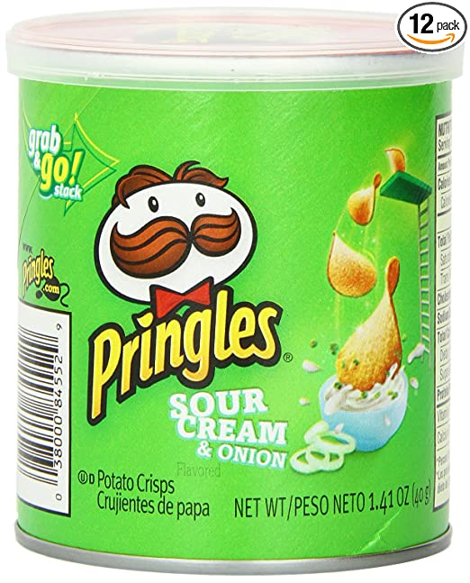 Pringles Sour Cream and Onion Small Stacks, 1.41 Ounce (Pack of 12)