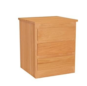 OAK - 3 Drawer Nightstand - Ships Fully Assembled - Super Strong - Chemical Free - Solid Wood - Unfinished