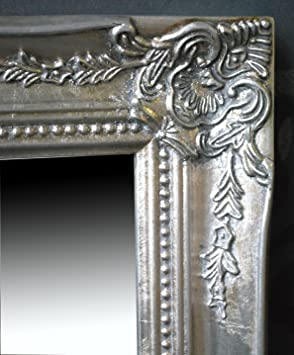 spiegel wandspiegel flurspiegel isabella silber barock 46 5 x 37 cm de42. Black Bedroom Furniture Sets. Home Design Ideas