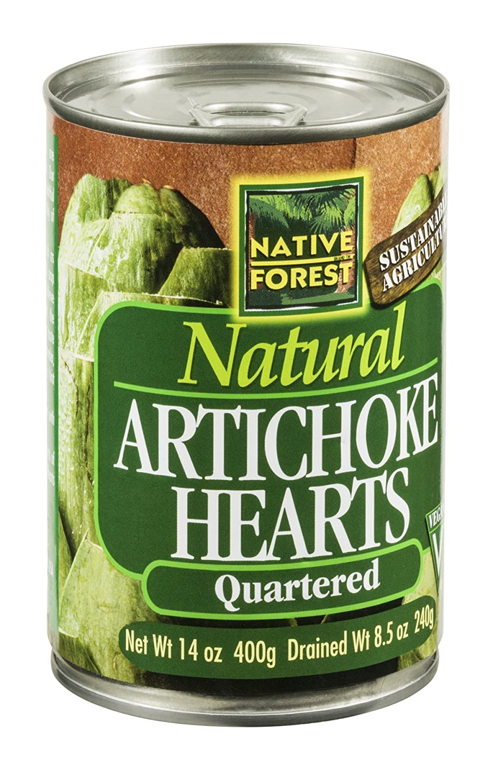 Native Forest Artichoke Hearts, Quartered, 14-Ounce Cans (Pack of 6) ( Value Bulk Multi-pack) for alfa romeo giulia 2017 abs carbon fiber interior center console gear shift panel cover trim auto accessory