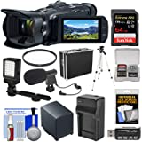 Canon Vixia HF G50 Wi-Fi 4K Ultra HD Video Camera Camcorder with 64GB Card + Battery & Charger + Hard Case + Video Light + Mic + Tripod + Filter + Kit