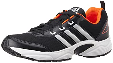 adidas Men's Ermis M Black, Silver and Solar Red Mesh Running Shoes 10 UK