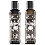 Best Deal Beard Wash & Beard Conditioner Set w/Argan & Jojoba Oils - Softens & Strengthens - Natural Peppermint and Eucalyptus Scent - Beard Shampoo w/Beard Oil (5 oz) (Tamaño: 5 oz)