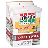 Oh Boy! Oberto Classics Original Thin Style Beef Jerky, 1.2 Ounce (Pack of 8) (Tamaño: Single Serve (Pack of 8))
