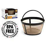 GoldTone Brand Reusable 8-12 Cup Basket Coffee Filter fits Mr. Coffee Makers and Brewers. Replaces your Mr. Coffee Reusable Basket Filter & Permanent Mr. Coffee Basket Filter - BPA Free
