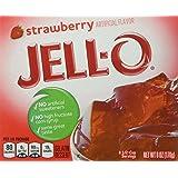 JELL-O Gelatin Dessert, Strawberry, 6-Ounce Boxes (Pack of 6) (Color: Strawberry, Tamaño: 6 Ounce (Pack of 6))