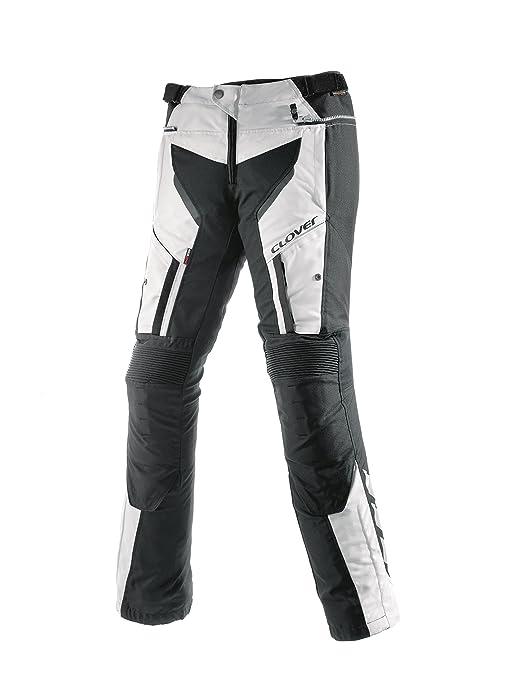 Clover 99135614_ 56Light de Pro Pantalon de moto, noir/blanc, Taille W: 39