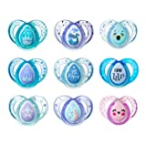 Tommee Tippee Day & Night Pacifiers, with Glow-In-The-Dark, BPA-free, 6-18 Months, 3 Count (Colors May Vary) (Tamaño: 6-18 Month)
