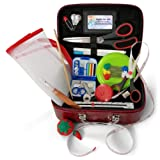 Anyone Can Sew Deluxe Beginner Sewing Kit with Travel Mending Kit and Full Sized Shears for Sewing Machines (Color: Deluxe Red)