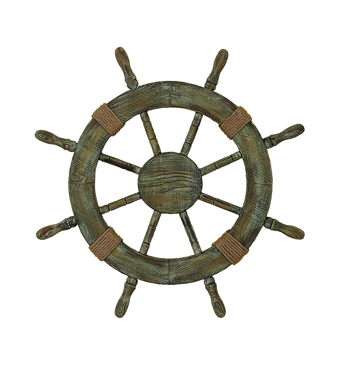 "Nautical Decor 24"" Wood Pirates Ship Wheel Marine Decor"