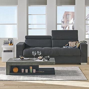 hilo table basse basse imitation b ton brut gris alinea alinea. Black Bedroom Furniture Sets. Home Design Ideas
