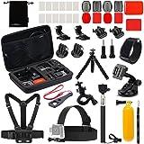 Luxebell Accessories Kit for AKASO EK5000 EK7000 4K WiFi Action Camera Gopro Hero 7 6 5 Fusion Session 5 Black Sliver Hero 4/3+/3/2/1 (22-in-1) (Color: 22-in-1, Tamaño: 22-in-1)