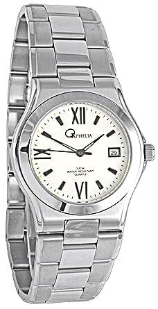 def6cc4cdb Orphelia - 148-7605-18 - Montre Homme - Quartz Analogique - Bracelet Acier  Inoxydable Argent