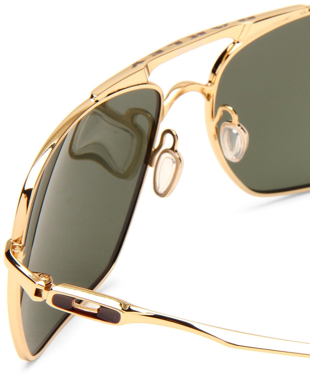 22624394cd9 ... sunglasses polished black grey 60mm efe93 5f58c  low price oakley mens  deviation oo4061 02 square sunglassespolished gold frame dark grey lens  ff970 ...
