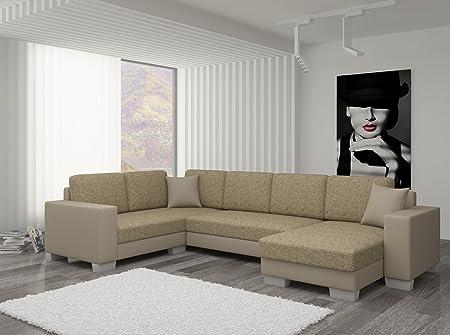 Couch Couchgarnitur Sofa Polsterecke MC 02 U Wohnlandschaft Schlaffunktion