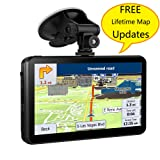GPS Navigation for Car, 7 Inches 8GB Vehicle GPS with Capacitive Touchscreen, Spoken Turn- to -Turn Directions Navigation Include Overall America Maps with Lifetime Free Updates and Two Car Charger