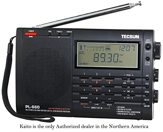 Tecsun PL-660 Portable AM-FM-LW-Air Shortwave World Band Radio with Single Side Band, Black