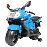Hoverheart BMW Motorcycle Licensed Kids Ride On Toys Electric Scooter (Blue) (Color: Blue)