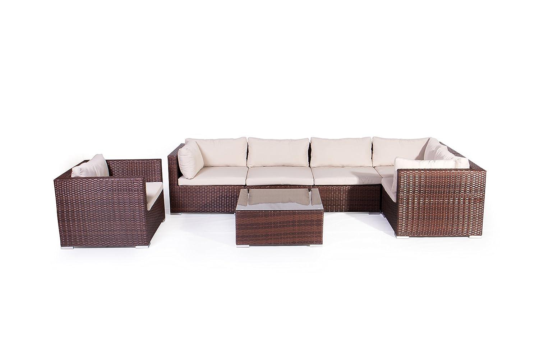 Vanage XXXL-Gartengarnitur, Chill und Lounge Set Kapstadt, bereits zusammengebaut