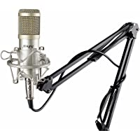 Mugig Condenser Adjustable Recording Mic, Boom Arm Stand with Shock Mount and Pop Filter