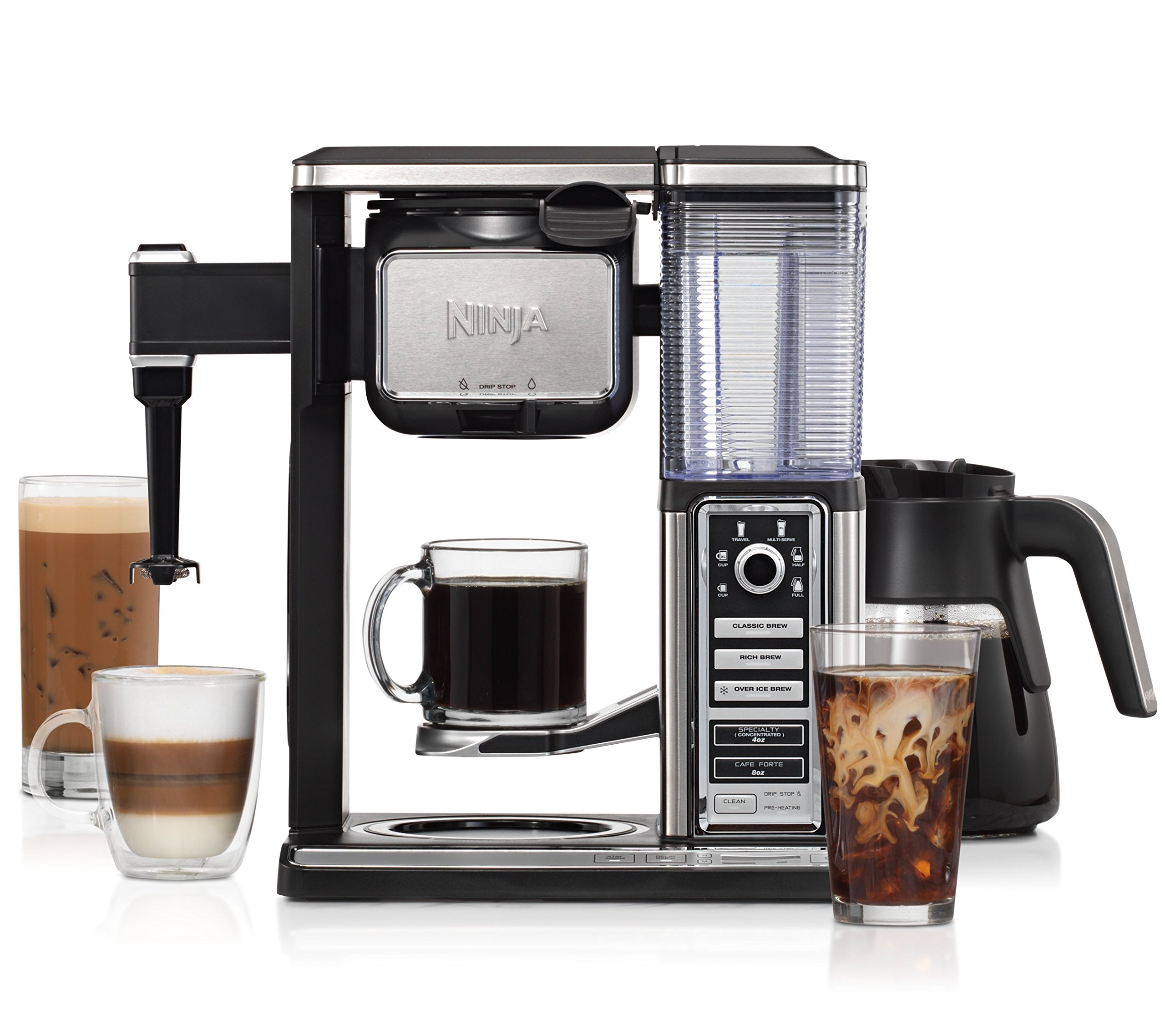 Ninja Coffee Bar Glass Carafe System (CF092) with Cookbook and Tumbler