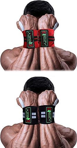 2-Pairs of Wrist Wraps for Men & Women