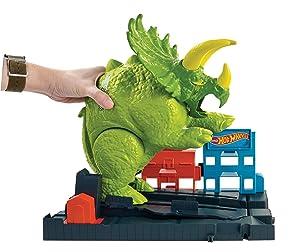 Hot Wheels Smashin' Triceratops Playset (Color: Multi)