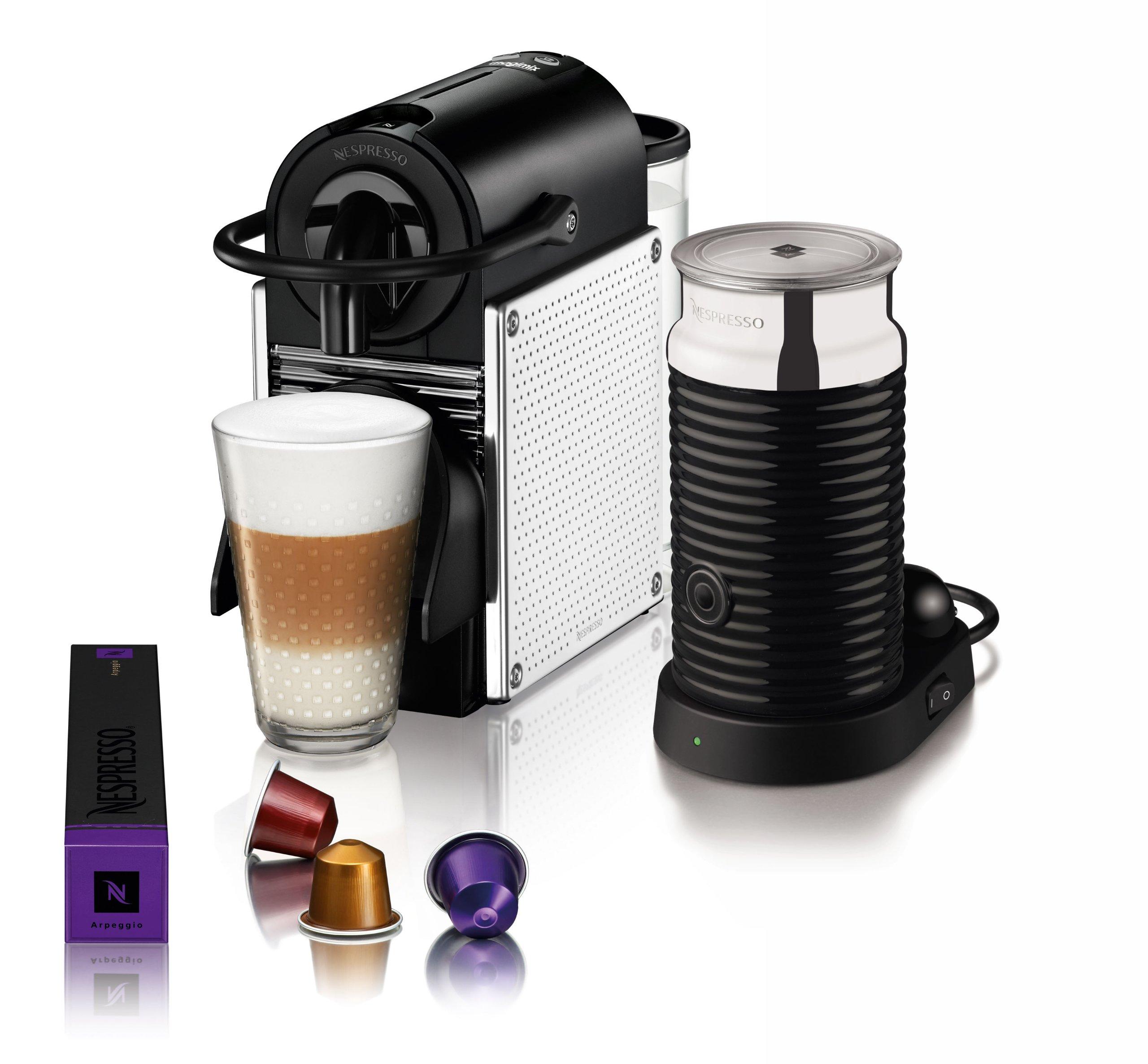 magimix 11328 nespresso pixie with aeroccino 3 1260 watt chrome ebay. Black Bedroom Furniture Sets. Home Design Ideas