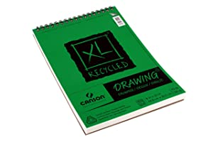 Canson XL Series Recycled Drawing Paper Pad, Top Wire Bound, 70 Pound, 9 x 12 Inch, 60 Sheets (Color: 0, Tamaño: 9X12)