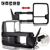 FEIPARTS Tow mirror Fit for 2014-2018 Chevy Silverado GMC Sierra 1500 Chevy Silverado 2500 HD 3500 HD Rearview Mirrors With Left Right Side Power Operation Heated With Turn Signal Light
