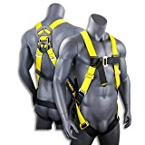 KwikSafety TORNADO 1D Fall Protection Full Body Safety Harness | OSHA Approved ANSI Compliant Industrial Roofing Tool Personal Protection Equipment | Construction Carpenter Scaffolding Contractor (Color: (1) D-Ring Harness, Tamaño: 1 Pack)