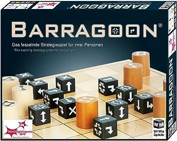 WiWa Spiele 790016 - BARRAGOON - Le jeu stratégique passionnant pour deux personnes (2 joueurs jeu de société jeu de stratégie jeux de plateau) - Gagnant MinD-Spielepreis 2016