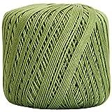 Threadart 100% Pure Cotton Crochet Thread - SIZE 3 - Color 10 - AVOCADO -2 sizes 27 colors available (Color: AVOCADO, Tamaño: SIZE 3 SINGLE)