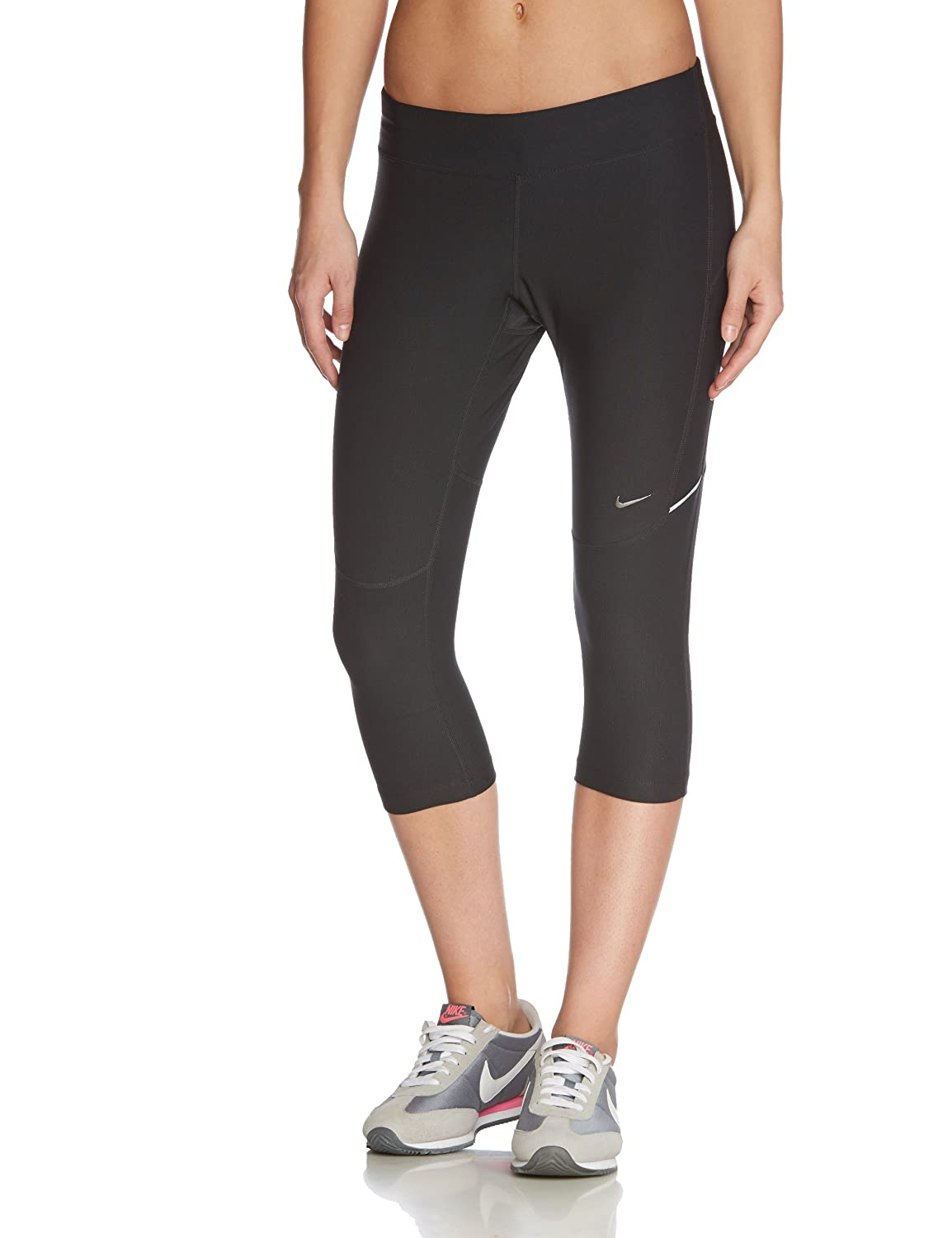Perfect Womens Nike&174 Gym Basic Capris Workout Pants With A Flattering Fit! Slip This Pair Of Capris On Before You Head Off To The Gym For A Workoutready Feel The Durable Spandex Material Offers Plenty Of Flexibility So You Can Wear These For Years