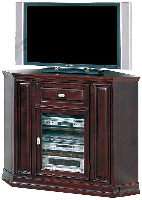 Leick 86232 Riley Holliday Espresso 46 in. Corner TV Console