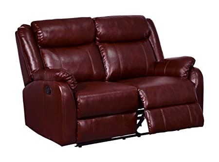 Global Furniture Reclining Loveseat, Burgundy