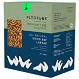 FLYGRUBS Chicken Feed Additive & Molting Supplement 5 lbs : Farm Raised Non-GMO Mealworm Alternative : Hen Treat - Averaging 85x More Calcium Than Meal Worms - FDA Approved BSF Larvae