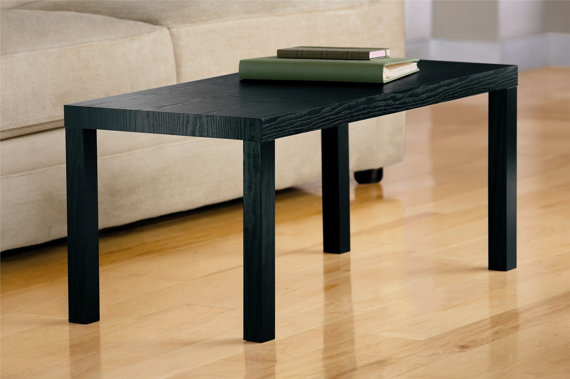 galleon dhp parsons modern coffee table black wood grain. Black Bedroom Furniture Sets. Home Design Ideas