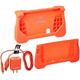 dreamGEAR - Power Play Kit - Ergonomic/Protective Silicon Cover + AC Adapter + Charge Cable for 3DS XL – Red