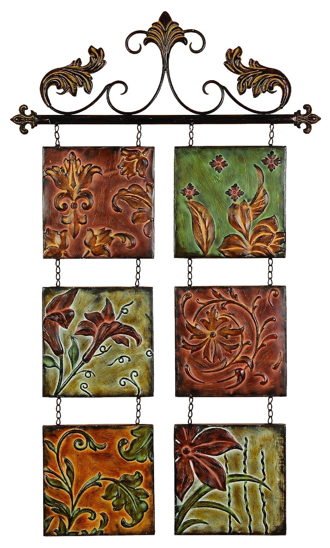 Wall Art And Decor For Living Room: Metal Wall Decor Botanical Scroll Metal-(99204
