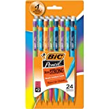 BIC MPLWP241 Xtra-Strong Mechanical Pencil, Colorful Barrel, Thick Point (0.9mm), 24-Count