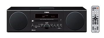 Yamaha MCRB142BL Chaîne Hifi avec Tuner FM Bluetooth/CD/Station d'accueil pour ipod et iphone Noir