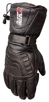 Gants de moto en cuir MKR imperméable avec visière facile à