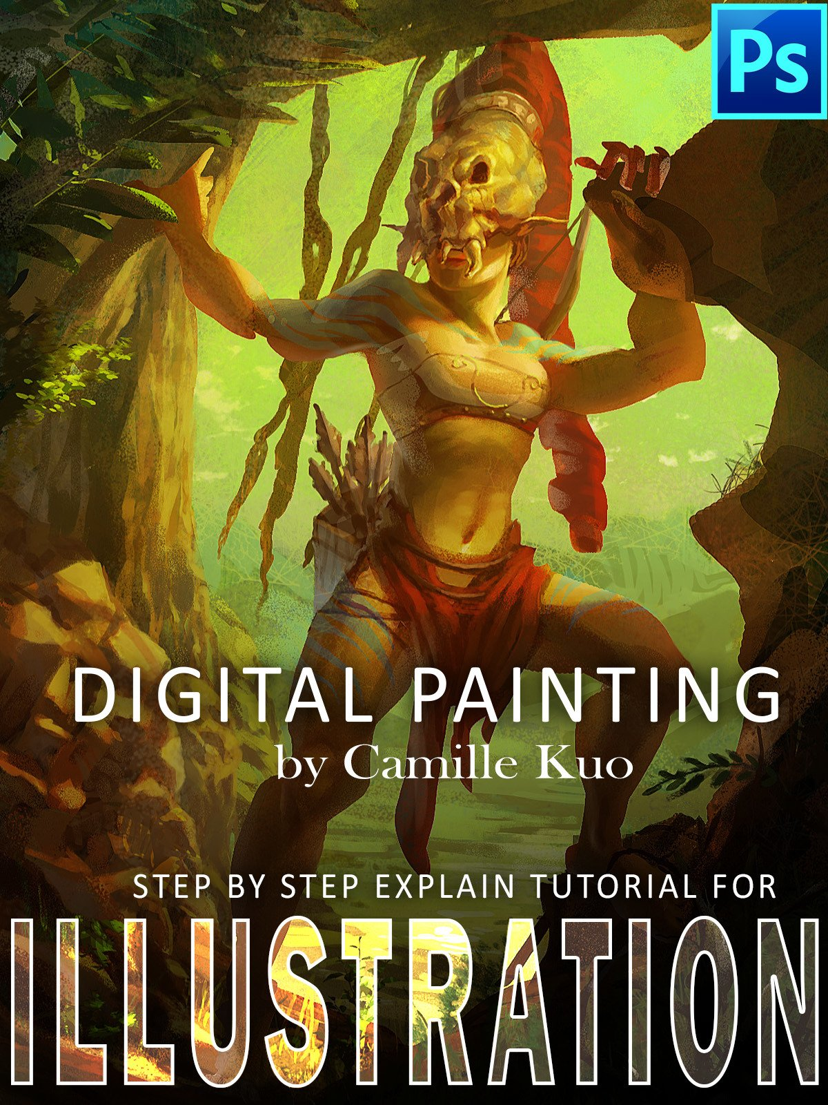 Digital Painting by Camille Kuo: step by step explain tutorial for illustration on Amazon Prime Video UK