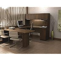 Bestar Executive U-shaped Workstation in Chocolate