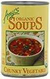 Amy's Organic Fat Free Chunky Vegetable Soup, 14.3-Ounce Cans (Pack of 12)